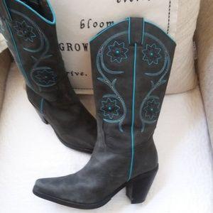 "FRANCO Sarto Leather ""Tulsa"" COWBOY Boot SZ 7M"